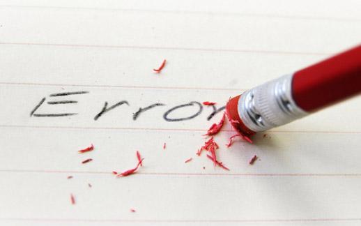Tesi di laurea: quando l'errore è sempre dietro l'angolo